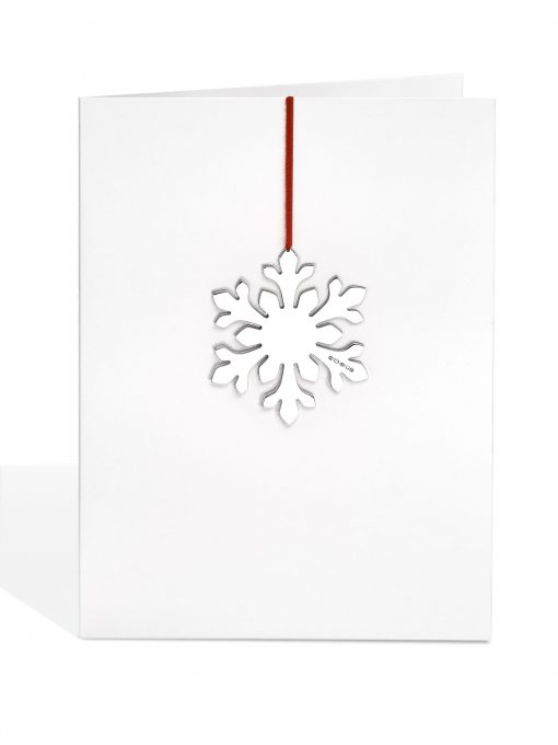 Silver 'Flowery' Snowflake Decoration Card